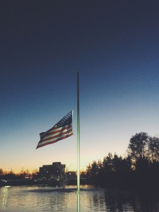 USA Flag at Half Mast