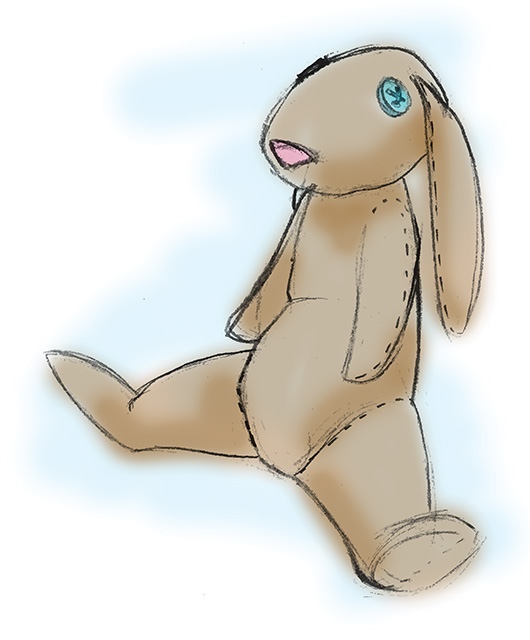 Cute toy plush rabbit